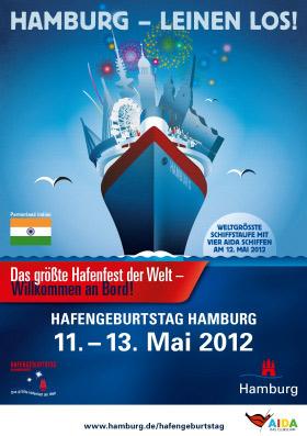HAFENGEBURTSTAG HAMBURG 2012 – Sogar Indien ist dabei