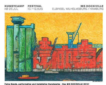 Heute wird das Dockville Kunstcamp 2012 eröffnet