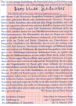 Gabi Steinhauser – Neue Ausstellung in der Galerie Schlüter