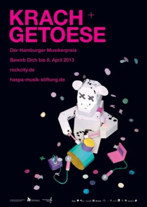 Jetzt bewerben für den Hamburger Musikerpreis Krach & Getöse 2013