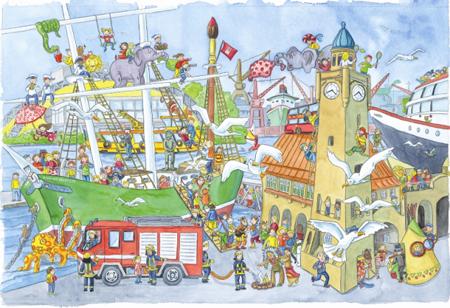 Für Kinder: Das Große Hamburger Wimmelbuch