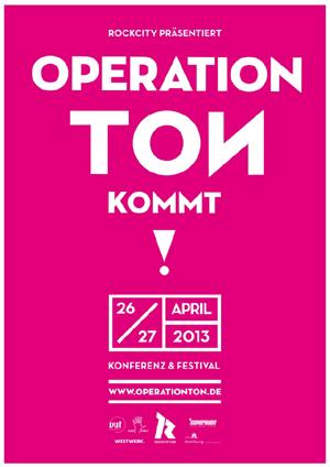OPERATION TON #7 kommt! Konferenz & Festival für Musiker und Musikschaffende in Hamburg