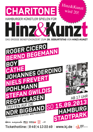 Charitone, Benefiz-Konzert zum 20. Geburtstag von Hinz&Kunzt im Hamburger Stadtpark