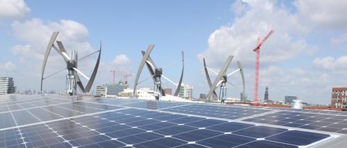 Grüner Strom für Greenpeace in der HafenCity
