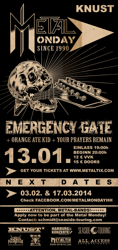 Metal Monday is back – Konzertreihe startet ab Januar im Hamburger Knust