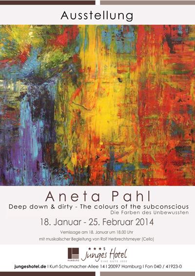 Aneta Pahl – Die Farben des Unbewussten -Neue Ausstellung in Junges Hotel Hamburg