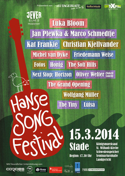 3. Hanse Song Festival – am 15. März in Stade bei Hamburg