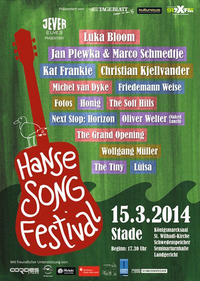 3. Hanse Song Festival – am 15. März in Stade bei Hamburg