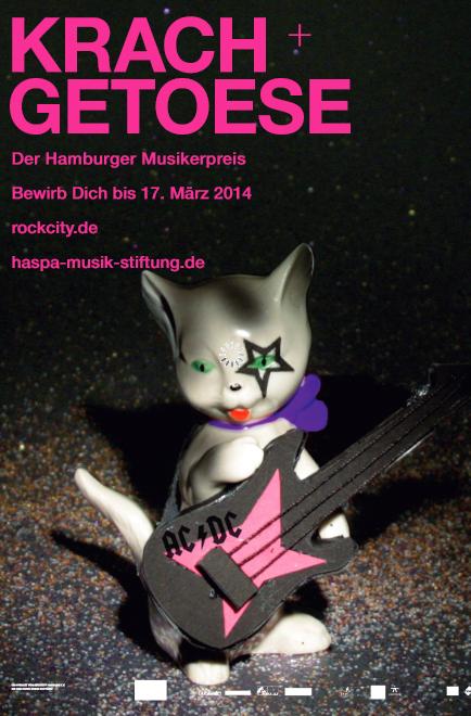 Am 10. Februar 2014 ist Bewerbungstart für den Hamburger Musikerpreis Krach und Getöse