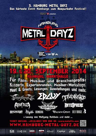 Weitere Bands für die Hamburger Metal Dayz 2014 bestätigt