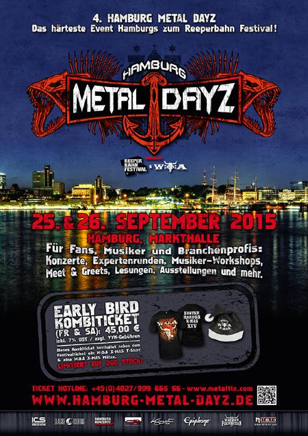 Hamburg Metal Dayz  2015 – Jetzt gibt´s schon Early Bird Tickets