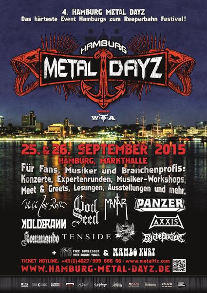 Die ersten Bands der Hamburg Metal Dayz 2015