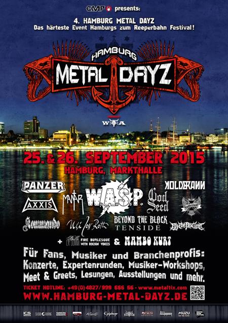 Das Programm steht! Hamburg Metal Dayz 2015