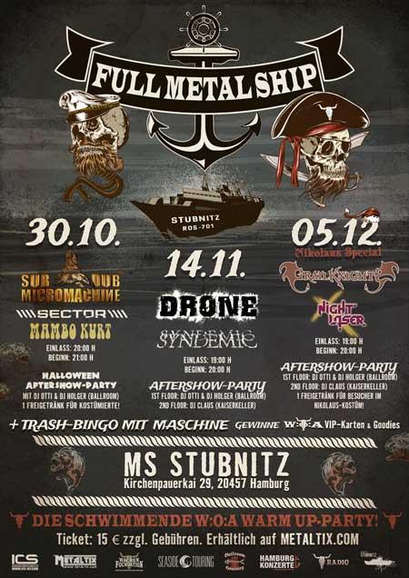 Metal-Party-Reihe auf der MS Stubnitz in der Hamburger Hafencity