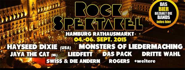 Zum Alstervergnügen gibt´s wieder das Rockspektakel auf dem Hamburger Rathausmarkt