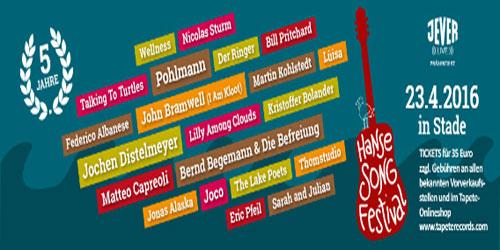 Das Jubiläumsprogramm des 5. Hanse Song Festivals steht