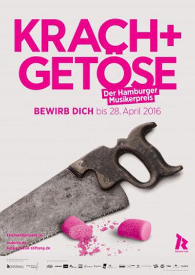Hamburger Musikerpreis Krach + Getöse: Bewerbungsstart am 23. März