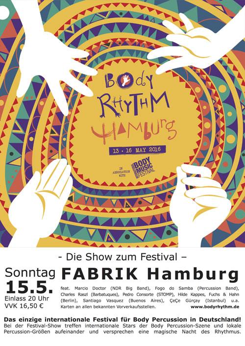 Fabrik Hamburg: Body Rhythm Hamburg –  Die Show zum Festival feat. Barbatuques u.a.