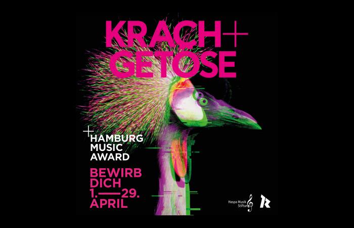 Der Hamburg Music Award KRACH+GETÖSE startet krisenfest am 1. April 2021
