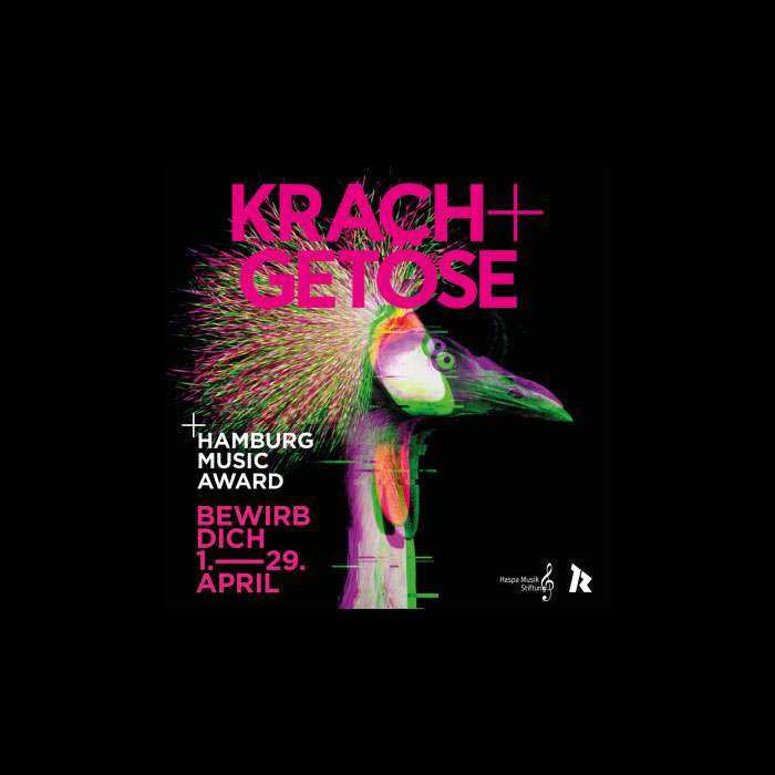 Hamburg Music Award KRACH+GETÖSE startet heute die Bewerbungsphase 2021!